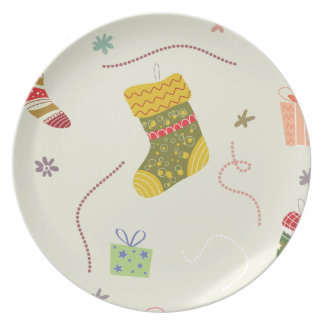 Christmas Stocking Melamine Plate
