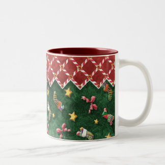 Christmas Stocking n Candy Cane Stripe Coffee Cup