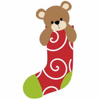 Christmas Stocking Ornament Photo Cut Out