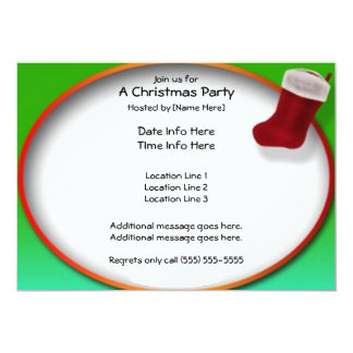 Christmas Stocking Party Invites