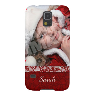 Christmas Stocking Photo Name Template Cases For Galaxy S5