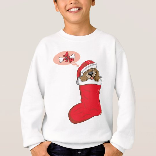 Christmas Stocking Puppy Sweatshirt