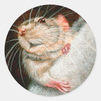 Christmas Stocking Stuffer Mouse Sticker