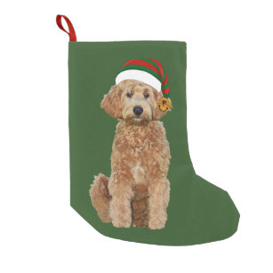 christmas stocking w golden doodle - Goldendoodle Christmas Decorations