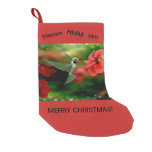 Christmas Stocking with a Hummingbird