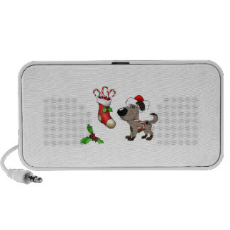 Christmas Stocking with Candy Canes and Mistletoe iPod Speakers