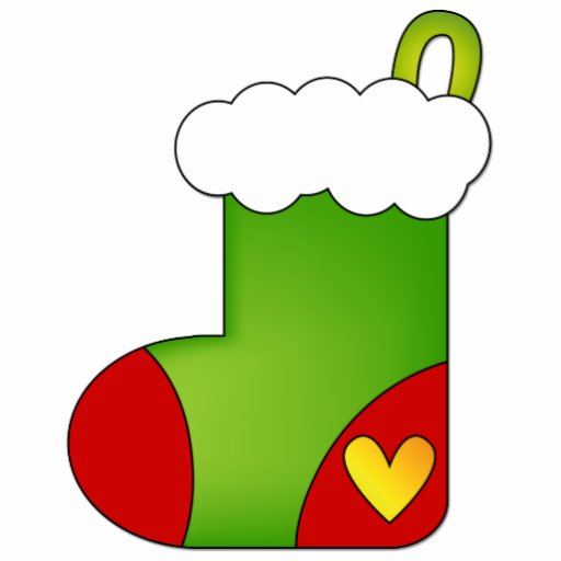 Christmas Stocking With Heart Photo Cut Outs Zazzle