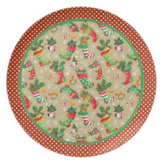 Christmas Stockings and Toys Plate