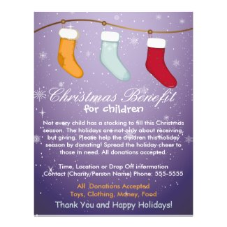 Christmas Stockings Benifit for Children Flyer