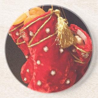 Christmas Stockings Beverage Coasters