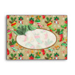 """Christmas Stockings -  fits 5""""x7"""" cards Envelope"""