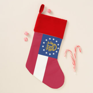 Christmas Stockings Flag of Georgia, USA