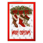 Christmas Stockings Greeting Cards