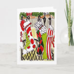 Christmas Stockings Holiday Card