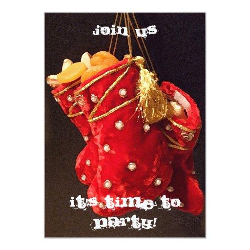 Christmas Stockings Invitation