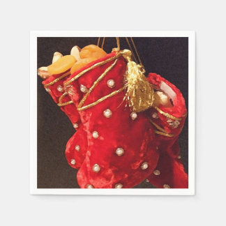 Christmas Stockings Paper Napkin