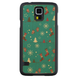 Christmas stockings pattern carved® maple galaxy s5 case