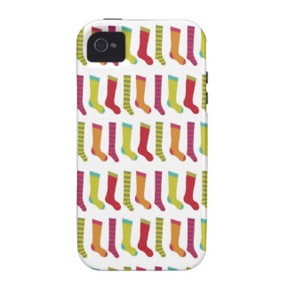 Christmas stockings pattern iPhone 4 case