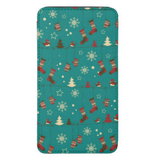 Christmas stockings pattern galaxy s5 pouch
