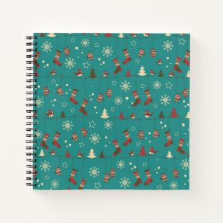 Christmas stockings pattern notebook