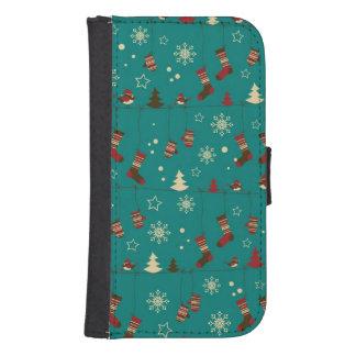Christmas stockings pattern phone wallet
