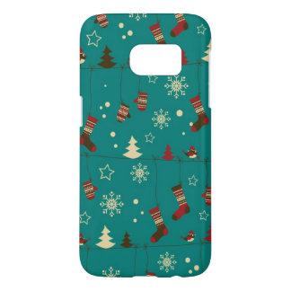 Christmas stockings pattern samsung galaxy s7 case