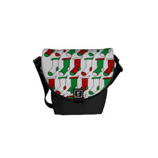Christmas Stockings Socks Messenger Bag