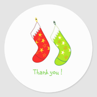 Christmas Stockings-Thank you stickers