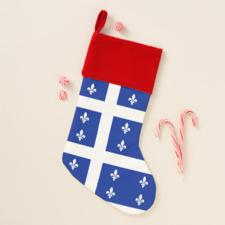 Christmas Stockings with Flag of Quebec