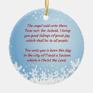 Christmas Story Luke 2 Christian Customizable Ceramic Ornament