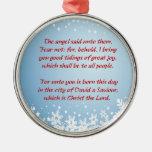 Christmas Story Luke 2 Christian Religious Metal Ornament