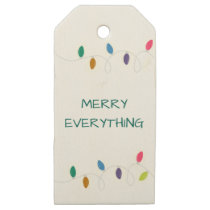 christmas string light christmas Holidays Gift Tag
