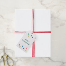 christmas string lights christmas Holiday Gift Tag