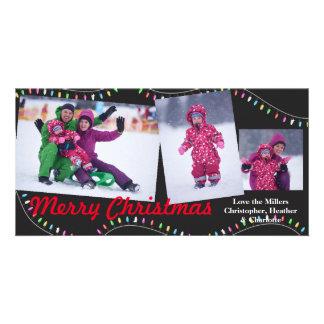 Christmas String of Lights - Christmas Photocard Card