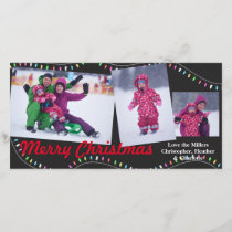 Christmas String of Lights - Christmas Photocard Holiday Card
