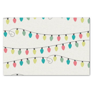 """Christmas String of Lights Pattern 10"""" X 15"""" Tissue Paper"""