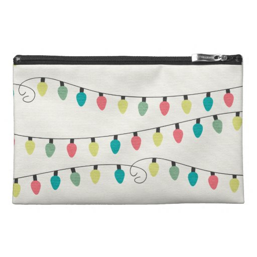 Christmas String of Lights Pattern Travel Accessory Bag