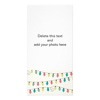 Christmas String of Lights Pattern Card
