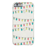 Christmas String of Lights Pattern Barely There iPhone 6 Case