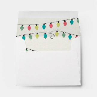 Christmas String of Lights Pattern Envelope