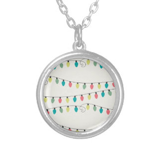 Christmas String of Lights Pattern Necklaces