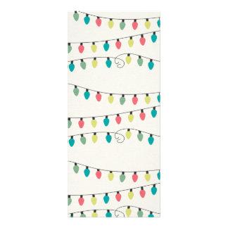 Christmas String of Lights Pattern Rack Card