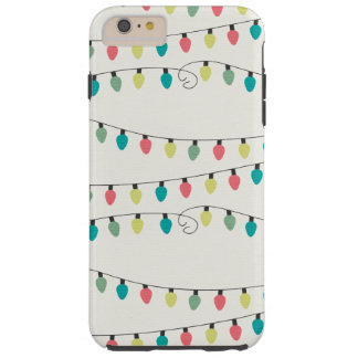 Christmas String of Lights Pattern Tough iPhone 6 Plus Case