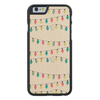 Christmas String of Lights Pattern Carved® Maple iPhone 6 Case