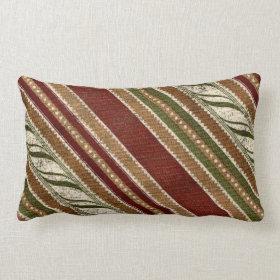 Christmas Stripe Pattern Pillow