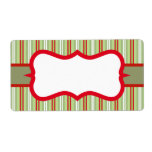 Christmas Striped Labels