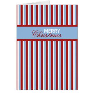 Christmas Stripes blue Christmas Note Card