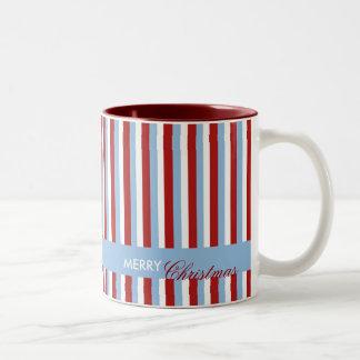 Christmas Stripes blue Mug
