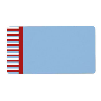 Christmas Stripes blue Shipping Label