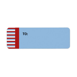 Christmas Stripes blue small Gift Tag Return Address Label